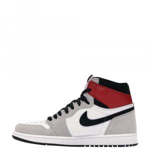 Nike Jordan 1 Retro High Light Smoke Grey Sneakers Size EU 42.5 (US 9)