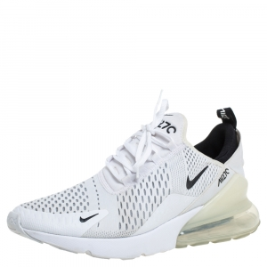 Nike Air Max 270 White Mesh And Fabric Low Top Sneakers Size 43