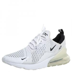 حذاء رياضي نايك إير ماكس 270 أبيض شبكة وقماش بعنق منخفض مقاس 43