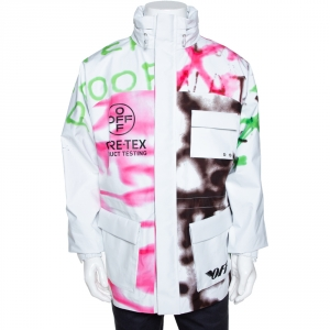 Off White White Gore-Tex Spray Paint Logo Detail Ski Jacket S