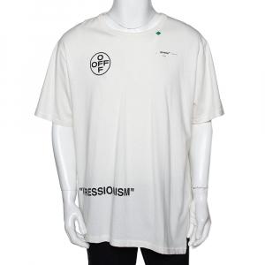 Off-White Off White Impressionism Print Cotton Crew Neck T-Shirt XXL