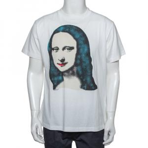 OFF-White White Cotton Monalisa Printed Crewneck T-Shirt XXS - used