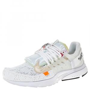 Off White x Nike White Mesh And Rubber Presto Sneakers Size 46