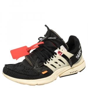 Off White x Nike Black Mesh Fabric The 10 Nike Air Presto Sneakers Size 41