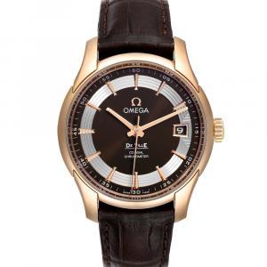 Omega Balck 18k Rose Gold DeVille Hour Vision 431.63.41.21.13.001 Men's Wristwatch 41 MM