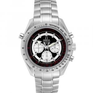 Omega Black Stainless Steel Speedmaster Rattrapante Broad Arrow 3582.51.00 Men's Wristwatch 44 MM