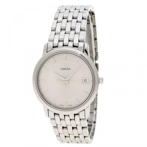 Omega Silver Stainless Steel De Ville 196.1150 Men's Wristwatch 34 mm