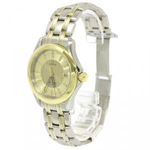 Omega Champagne 18K Yellow Gold and Stainless Steel Seamaster Men's Wristwatch 36MM