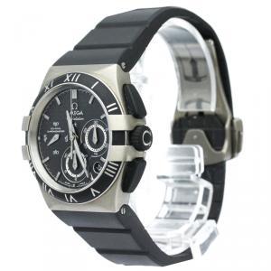 Omega Carbon Titanium Constellation Double Eagle Men's Wristwatch 35MM
