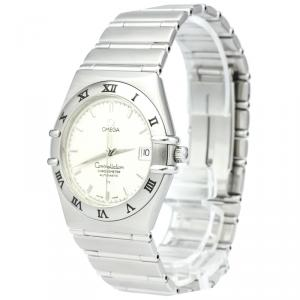 Omega Silver Stainless Steel Constellation Men's Wristwatch 36MM