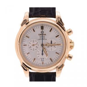 Omega Silver 18K Yellow Gold De Ville Co-Axial Men's Wristwatch 40MM