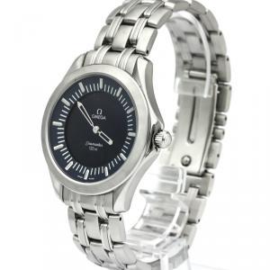 Omega Blue Stainless Steel Seamaster Multifunction Men's Wristwatch 39MM
