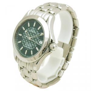 Omega Green Stainless Steel Seamaster Men's Wristwatch 36MM