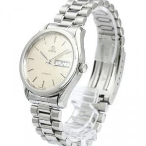 Omega Silver Stainless Steel Classic Men's Wristwatch 35MM
