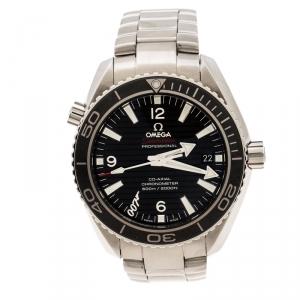 "Omega Black Stainless Steel Seamaster Planet Ocean 600M James Bond 007 ""SKYFALL"" Limited Edition Men's Wristwatch 42 mm"