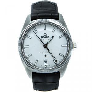 Omega White Globemaster Automatic Open Case Men's Watch 39MM