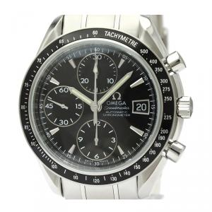 Omega Black Stainless Steel Speedmaster Date/Day-Date Chronograph 3210.50 Men's Wristwatch 40MM