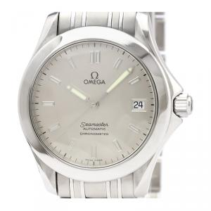 Omega Silver Stainless Steel Seamaster Chronometer 2501.33 Men's Wristwatch 36MM