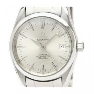 Omega Silver Stainless Steel Seamaster Aqua Terra Chronometer 2504.30 Men's Wristwatch 36MM