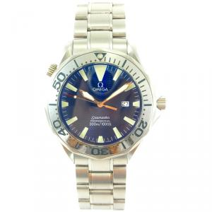 Omega Blue Stainless Steel Seamaster Professional 2265.80 Men's Wristwatch 41MM