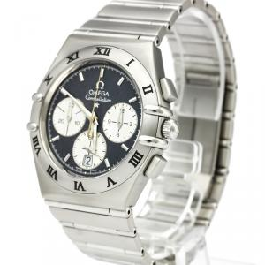 Omega Gray Stainless Steel Constellation Chronograph 1542.40 Men's Wristwatch 37MM