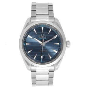 Omega Blue Stainless Steel Seamaster Aqua Terra 220.10.41.21.03.001 Men's Wristwatch 41 MM