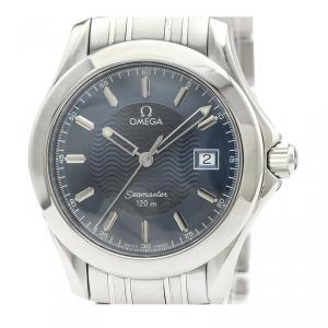 Omega Blue Stainless Steel Seamaster 120M 2511.81 Men's Wristwatch 36MM