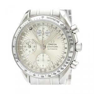 Omega Silver Stainless Steel Speedmaster Triple Date 3523.30 Men's Wristwatch 39MM