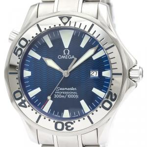 Omega Blue Stainless Steel Seamaster Professional 300M 2265.80 Men's Wristwatch 41 MM