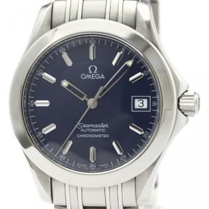 Omega Blue Stainless Steel Seamaster 120M Jacques Mayol 2507.80 Men's Wristwatch 36 MM