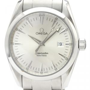 Omega Silver Stainless Steel Seamaster Aqua Terra 2518.30 Men's Wristwatch 36MM