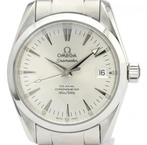 Omega Silver Stainless Steel Seamaster Aqua Terra 2504.30 Men's Wristwatch 36MM
