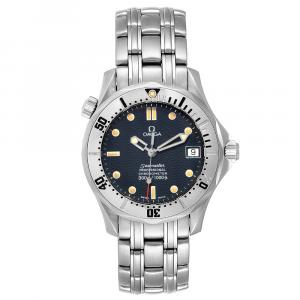 Omega Blue Stainless Steel Seamaster 2552.80.00 Men's Wristwatch 36MM