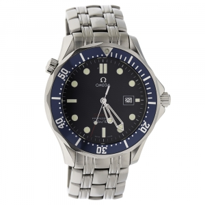 Omega Blue Stainless Steel Seamaster Professional 22218000 Men's Wristwatch 41 MM