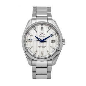 """ساعة يد رجالية أوميغا """"سياماستر اكوا تيرا 150 متر 231.10.42.21.02.002"""" ستانلس ستيل فضية 41.5 مم"""
