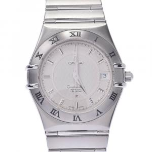 Omega White Stainless Steel Constellation 1552.30 Men's Wristwatch 35 MM