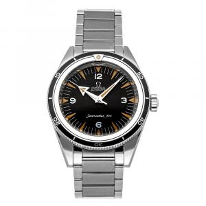 Omega Black Stainless Steel Seamaster 300 The 1957 Trilogy Limited Edition 234.10.39.20.01.001 Men's Wristwatch 39 MM