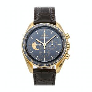 Omega Blue 18k Yellow Gold Speedmaster Moonwatch Anniversary Limited Series 311.63.42.30.03.001 Men's Wristwatch 42 MM