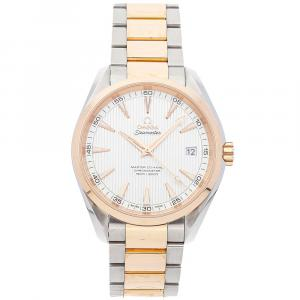 Omega Silver 18K Rose Gold And Stainless Steel Seamaster Aqua Terra 150m 231.20.42.21.02.001 Men's Wristwatch 41.5 MM