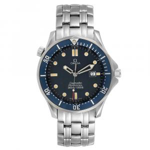 Omega Blue Stainless Steel Seamaster James Bond 2541.80.00 Men's Wristwatch 41 MM