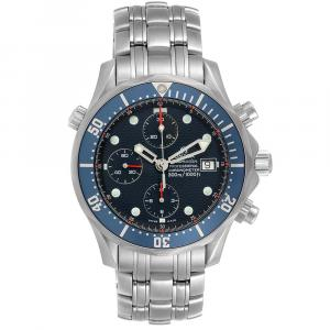 Omega Blue Stainless Steel Seamaster Bond 2599.80.00 Men's Wristwatch 41.5 MM