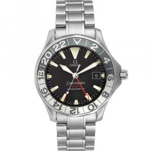 Omega Black Stainless Steel Seamaster GMT 2234.50.00 Men's Wristwatch 41 MM