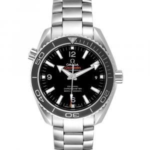 Omega Black Stainless Steel Seamaster Planet Ocean 232.30.42.21.01.001 Men's Wristwatch 42 MM