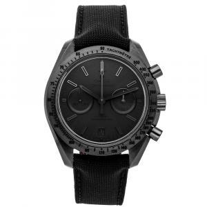 "Omega Black Ceramic Speedmaster Dark Side of the Moon ""Black Black"" Chronograph 311.92.44.51.01.005 Men's Wristwatch 44 MM"