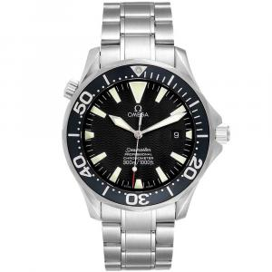 Omega Black Stainless Steel Seamaster 2254.50.00 300M Men's Wristwatch 41MM