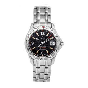 Omega Black Stainless Steel Seamaster 200m 2516.50.00 Men's Wristwatch 36 MM