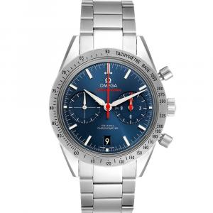 Omega Blue Stainless Steel Speedmaster 57 Co-Axial Chronograph 331.10.42.51.03.001 Men's Wristwatch 41.5 MM