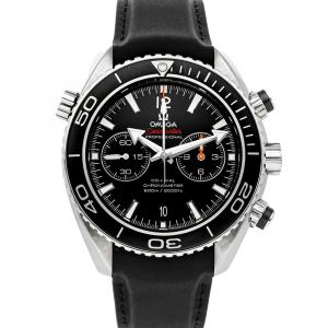 Omega Black Stainless Steel Seamaster Planet Ocean 600m Chronograph 232.32.46.51.01.003 Men's Wristwatch 45.5 MM