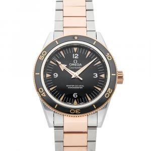 Omega Black 18K Rose Gold And Stainless Steel Seamaster 300m 233.20.41.21.01.001 Men's Wristwatch 41 MM