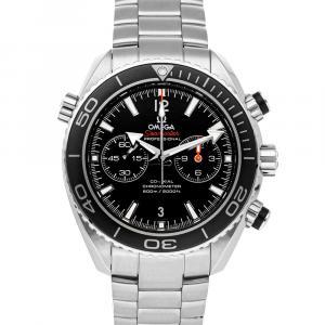 Omega Black Stainless Steel Seamaster Planet Ocean 600M Chronograph 232.30.46.51.01.001 Men's Wristwatch 45.5 MM
